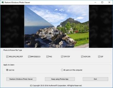 Restore Windows Photo Viewer to Windows 10