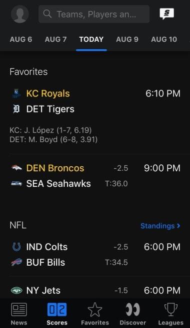 theScore: Live Sports Scores, News, Stats & Videos