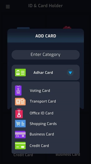 Cards Mobile Wallet